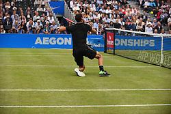 June 24, 2017 - London, United Kingdom - Grigor Dimitrov of Bulgaria plays in the semi final of AEGON Championships at Queen's Club, London, on June 24, 2017. (Credit Image: © Alberto Pezzali/NurPhoto via ZUMA Press)