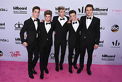 (L-R) Singers  Daniel Seavey, Jack Avery, Corbyn Besson, Zach Herron and Jonah Marais of Why Don't We at 2017 Billboard Music Awards held at T-Mobile Arena on May 21, 2017 in Las Vegas, NV, USA (Photo by Jason Ogulnik) *** Please Use Credit from Credit Field ***