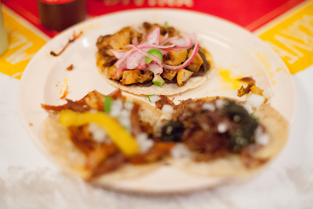 Chicken, Al Pastor, and Barbacoa Tacos at Tacombi ($14.00) - JVG Birthday Lunch