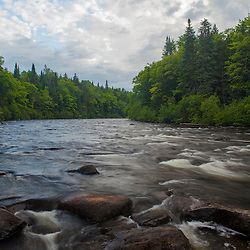 The Connecticut River near its headwaters in Pittsburg, New Hampshire.