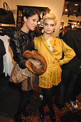 Left to right, LISA MOORISH and PIXIE GELDOF at a party to celebrate the opening of the new H&M store at 234 Regent Street, London on 13th February 2008.<br />