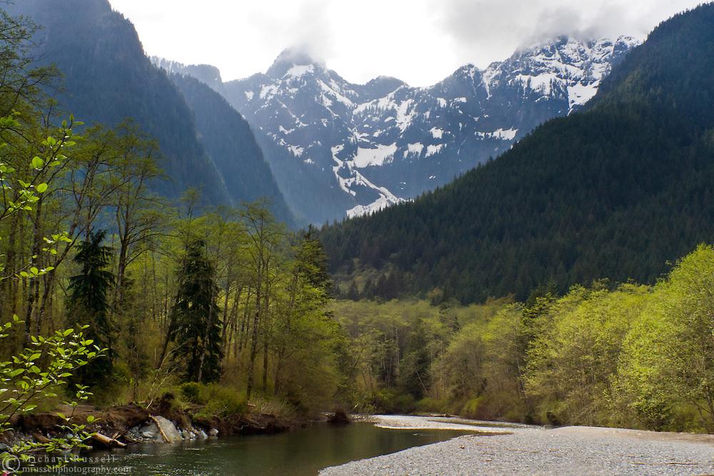 Gold Creek winds through Golden Ears Provincial Park below Blanshard and Edge Peaks