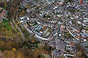Nederland, Limburg, Maastricht, 15-11-2010;.Gezicht op deel historisch centrum  Maastricht, rechts boven de rode toren van de Sint Jan en de Sint Servaasbasiliek op het Vrijthof. Voor de witte huizen rechts onder het midden is de stadswal te zien. View of the  historical center of Maastricht, with a small piece of the Vrijthof (top) and the red tower of the Sint Jan. In front of the white houses (r) in the middle the city wall..luchtfoto (toeslag), aerial photo (additional fee required).foto/photo Siebe Swart
