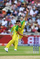 Cricket - 2019 ICC Cricket World Cup - Semi-Final: England vs. Australia<br /> <br /> Australia's Pat Cummins in action today during the ICC Cricket World Cup Semi Final match between Australia and England, at Edgbaston, Birmingham.<br /> <br /> COLORSPORT/ASHLEY WESTERN