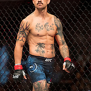 Cub Swanson enters the ring to take on Renato Moicano in a featherweight bout at UFC 227 held at the Staples Center in Los Angeles on August 4, 2018. Photo by Todd Bigelow for ESPN.