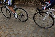 Belgium, March 31 2013: The Oude-Kwaremont is a cobbled climb. Ronde van Vlaandaren 2013..Copyright 2013 Peter Horrell.