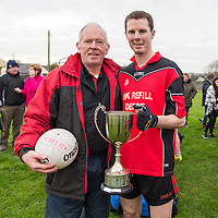 Meelick Manager Pat O'Rourke with Captain Kevin Harnett