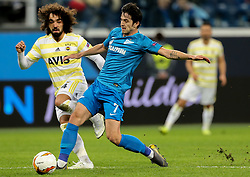 February 21, 2019 - Saint Petersburg, Russia - Zenit St.Petersburg's Iranian forward Sardar Azmounin vies for the ball during the UEFA Europa League round of 32 second leg football match between FC Zenit and Fenerbahce SK in Saint Petersburg on February 21, 2019. (Credit Image: © Igor Russak/NurPhoto via ZUMA Press)