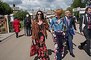 MELANIE RICKEY; MARY PORTAS, Press view of the 2016 RHS  Chelsea Flower Show,  London.