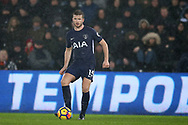 Eric Dier of Tottenham Hotspur in action.Premier league match, Swansea city v Tottenham Hotspur at the Liberty Stadium in Swansea, South Wales on Tuesday 2nd January 2018. <br /> pic by  Andrew Orchard, Andrew Orchard sports photography.
