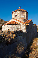 The Byzantine church if Taxiarches (The Archangels) built on the Sancturay of Zeus Hellanios, Aegina, Greek Saronic Islands ..<br /> <br /> If you prefer to buy from our ALAMY PHOTO LIBRARY  Collection visit : https://www.alamy.com/portfolio/paul-williams-funkystock/aegina-greece.html <br /> <br /> Visit our GREECE PHOTO COLLECTIONS for more photos to download or buy as wall art prints https://funkystock.photoshelter.com/gallery-collection/Pictures-Images-of-Greece-Photos-of-Greek-Historic-Landmark-Sites/C0000w6e8OkknEb8