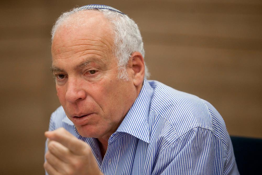 Israeli lawmaker, Knesset Member Uri Ariel, at the Knesset, Israel's parliament in Jerusalem, on June 19, 2012.