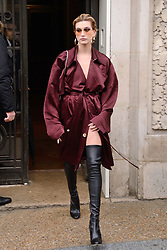 Hailey Baldwin attending the Elie Saab show during Paris Fashion Week Ready to wear FallWinter 2017-18 on March 04, 2017  in Paris, France. Photo by Aurore Marechal/ABACAPRESS.COM    584654_089 Paris France