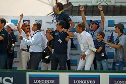 Team BRA, Lacerda Pedro Paulo, Azevedo Filho Luiz Felipe, Amaral Felipe, Mansur Yuri, Schoonbrood Celine<br /> Longines FEI Jumping Nations Cup de France<br /> La Baule 2018<br /> © Hippo Foto - Dirk Caremans<br /> 20/05/2018