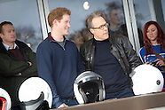 Prince Harry drives on Goodwood track day