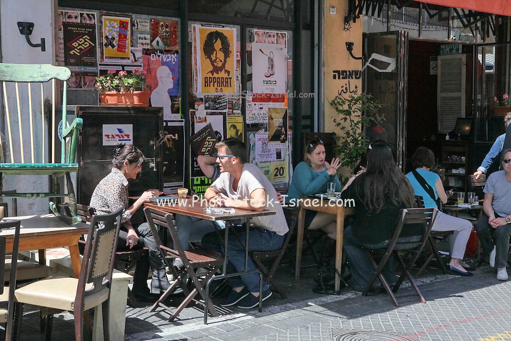 Outdoor Cafe at the Flea Market, Jaffa, Israel