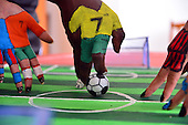 players use Fingers to play Kick Soccer