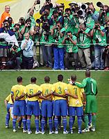 Photo: Chris Ratcliffe.<br /> Brazil v Ghana. Round 2, FIFA World Cup 2006. 27/06/2006.<br /> Brazil team photo.
