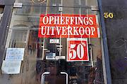 Nederland, Arnhem, 20-1-2011Een winkel houdt opheffingsuitverkoop.Foto: Flip Franssen/Hollandse Hoogte