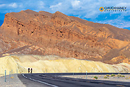 Road cycling in Death Valley National Park, California, USA