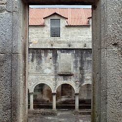 Santa Maria Do Bourho, Portugal - A window looks out onto the courtyard of the  former Cistercian monastery of Santa Maria Do Bourho...Photo by Susana Raab
