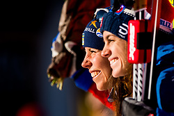 December 16, 2017 - Toblach, ITALY - 171216 Charlotte Kalla of Sweden and Heidi Weng of Norway on the podium after women's 10km interval start free technique during FIS Cross-Country World Cup on December 16, 2017 in Toblach..Photo: Jon Olav Nesvold / BILDBYRN / kod JE / 160103 (Credit Image: © Jon Olav Nesvold/Bildbyran via ZUMA Wire)