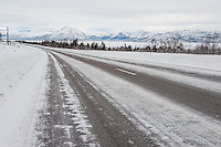 Route E10 with the mountain scenery en route to Abisko.