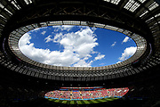 A general view during the 2018 FIFA World Cup Russia group B match between Portugal and Morocco at Luzhniki Stadium on June 20, 2018 in Moscow, Russia.