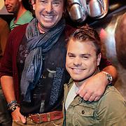 NLD/Hilversum/20120821 - Perspresentatie 3de seizoen The Voice of Holland 2012 / 2013, Marco Borsato en Roel van Velzen