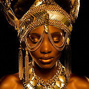 """""""Solid Gold"""" A fashion and beauty editorial"""