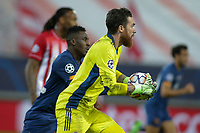 PIRAEUS, GREECE - DECEMBER 09: José Sá of Olympiacos FC during the UEFA Champions League Group C stage match between Olympiacos FC and FC Porto at Karaiskakis Stadium on December 9, 2020 in Piraeus, Greece. (Photo by MB Media)
