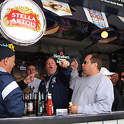 Yankees fans in Stans Sports bar before the New York Yankees opening day of the Major League Baseball 2013 season during the New York Yankees V Boston Red Sox American League East baseball game at Yankee Stadium, The Bronx, New York. USA, 1st April 2013. Photo Tim Clayton