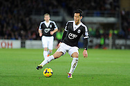 Southampton's Maya Yoshida in action. Barclays Premier league, Cardiff city v Southampton at the Cardiff city Stadium in Cardiff,  South Wales on Boxing day, Thursday 26th Dec 2013. <br /> pic by Andrew Orchard, Andrew Orchard sports photography.