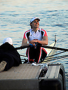 Eton, GREAT BRITAIN,  Kirsty MYLES, W1X, relaxes at the Start, GB Trials 3rd Winter assessment at,  Eton Rowing Centre, venue for the 2012 Olympic Rowing Regatta, Trials cut short due to weather conditions forecast for the second day Sunday  13/02/2011   [Photo, Karon Phillips/Intersport-images]