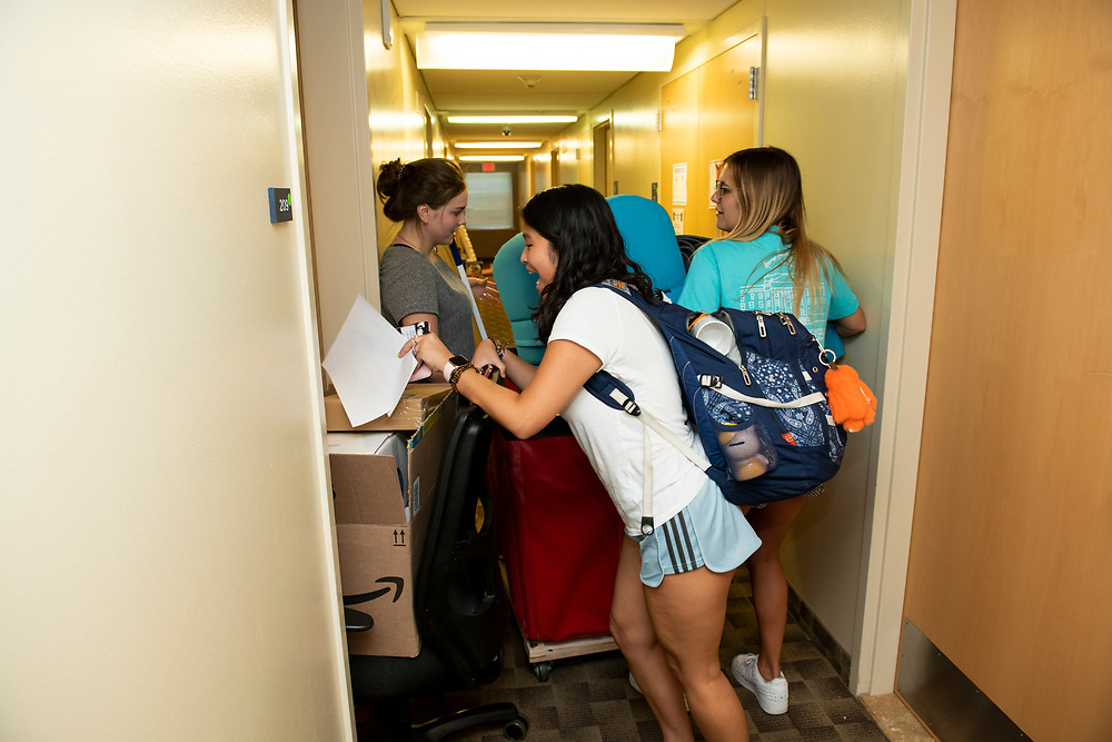 First year students with the help of family and the SMU Community, move in to their new Commons during Move In Day, Thursday, August 22, 2019 on the SMU Campus.