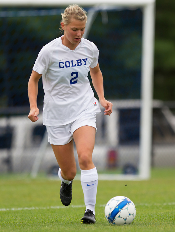 Janie O'Halloran, of Colby College, in a NCAA Division III soccer game on September 13, 2014 in Waterville, ME. (Dustin Satloff/Colby College Athletics)