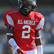 Erique Florence during the practice session at the Walt Disney Wide World of Sports Complex in preparation for the Under Armour All-America high school football game on December 3, 2011 in Lake Buena Vista, Florida. (AP Photo/Alex Menendez)