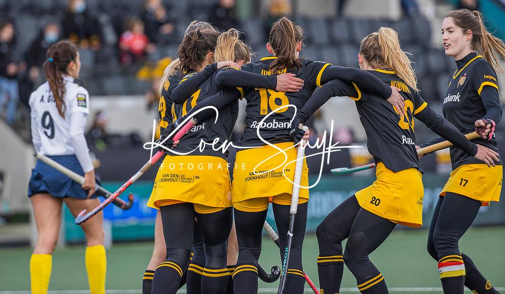 AMSTELVEEN - Lidewij Welten (DenBosch) heeft gescoord  tijdens  de Euro Hockey League finale dames, HC Den Bosch-Club Campo de Madrid (5-0).  COPYRIGHT KOEN SUYK