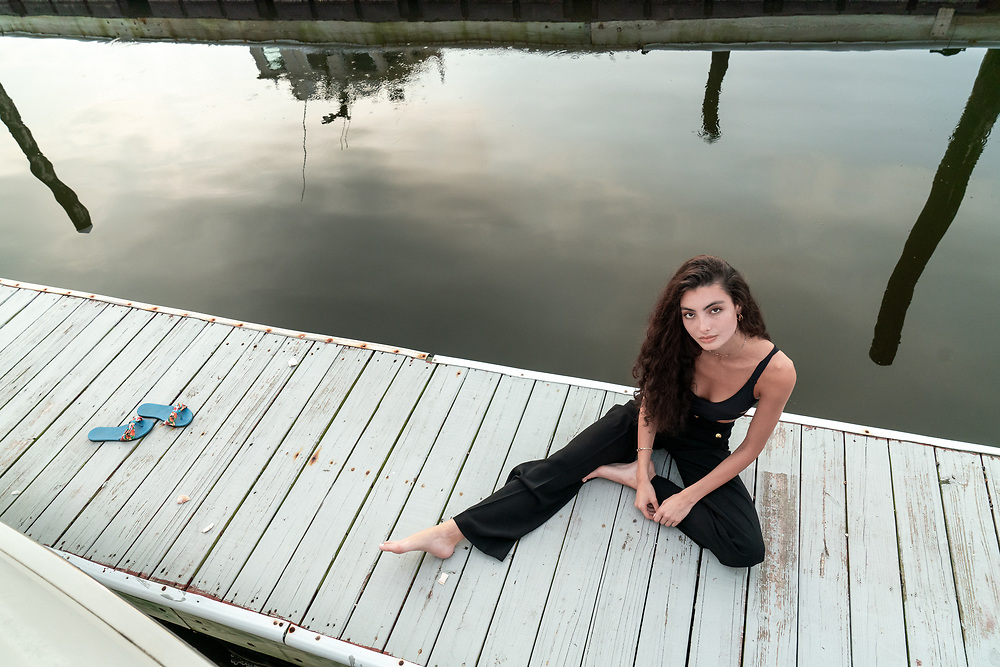 Rebecca on the Sunflower at the Marina on Staten Island, NY, Thursday, August 13, 2020. Photo by Ken Cedeno