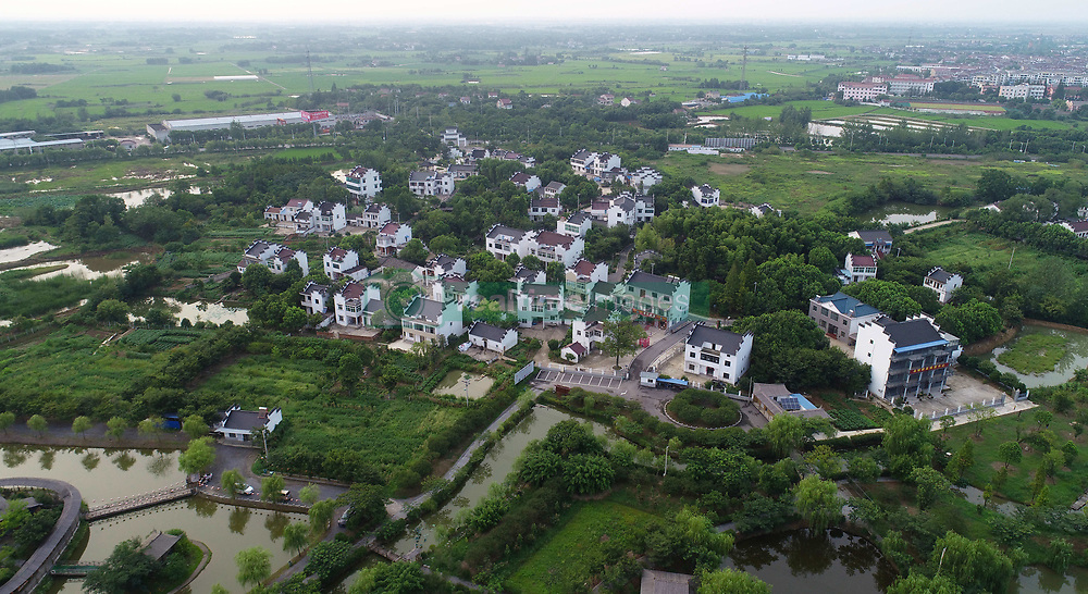 August 1, 2018 - Xuancheng, Xuancheng, China - Xuancheng, CHINA-Aerial photography of Gaotang Village in Xuancheng, east China's Anhui Province. (Credit Image: © SIPA Asia via ZUMA Wire)