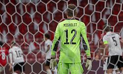 Simon Mignolet (Belgien) under UEFA Nations League kampen mellem Danmark og Belgien den 5. september 2020 i Parken, København (Foto: Claus Birch).