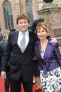 His highness prince Pieter-Christiaan of Oranje Nassau, of Vollenhoven and Ms drs. A.T. van Eijk get married  in the Great or St Jeroens Church in Noordwijk. <br /> <br /> <br /> Zijne Hoogheid Prins Pieter-Christiaan van Oranje-Nassau, van Vollenhoven en mevrouw drs. A.T. van Eijk treden in het (kerkelijk) huwelijk in de Grote St. Jeroenskerk in Noordwijk<br /> <br /> On the photo/Op de foto:<br /> <br /> <br /> <br /> Marc Klein Essink en Caroline van den Berg