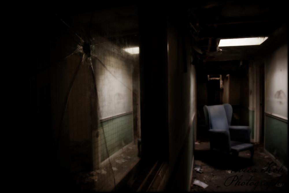 Armchair in a corridor