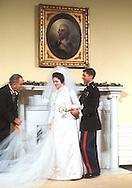 LBJ and  Lynda Bird and Chuck Robb at the wedding of Lynda Bird to Chuck Robb in December 1967