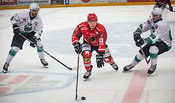 during ice hockey match between HK SIJ Acroni Jesenice and HK SZ Olimpija in Round #12 of Alps Hockey League 2018/19 , on October 27, 2018 in Podmezakla hall , Jesenice, Slovenia. Photo by Urban Meglic / Sportida