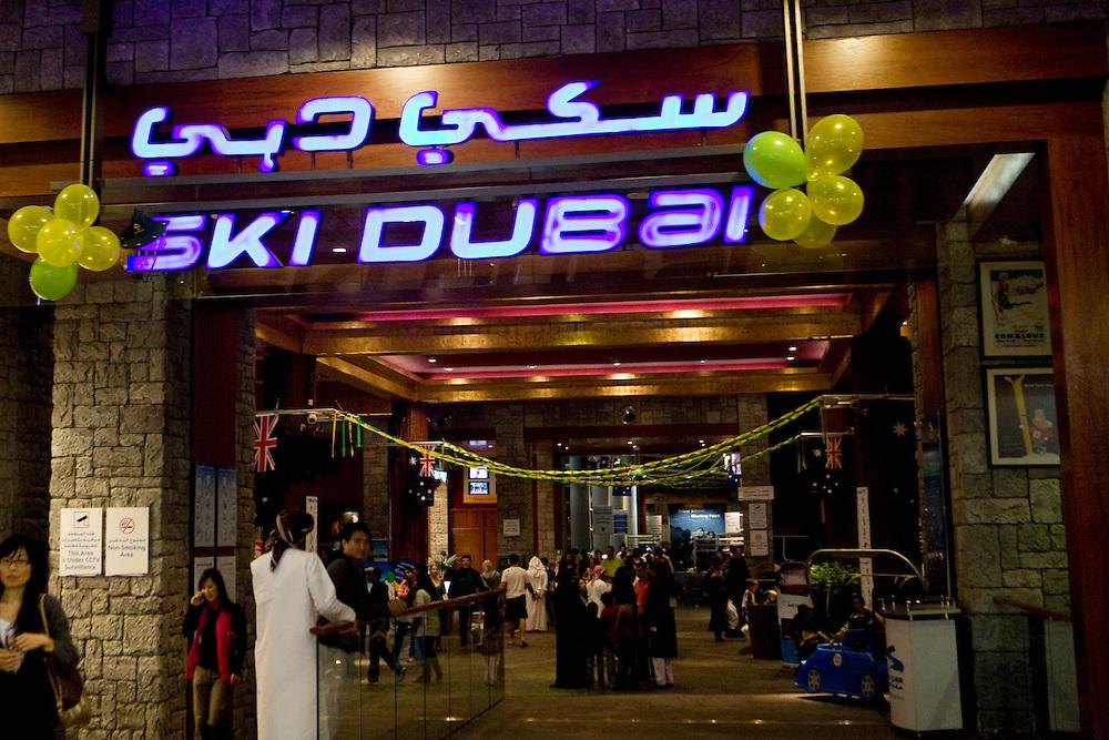 """Dubai, United Arab Emirates (UAE). January 30th 2009..Entrance of """"Ski Dubai"""", inside the Mall of the Emirates."""