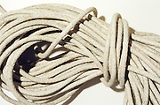 close up of bundle of rope