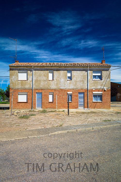 Utilitarian architecture in small town of Calzada Del Coto in Castilla y Leon, Spain