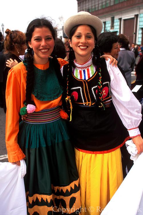 PERU, TRUJILLO, FESTIVALS Parade on the Plaza de Armas, portrait