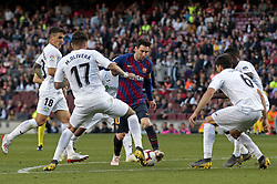May 12, 2019 - Barcelona, Spain - Leo Messi during the match between FC Barcelona angd Getafe, corresponding to the round 37 of the Liga Santander, played at the Camp Nou Stadium, on 12th May 2019, in Barcelona, Spain. (Credit Image: © Joan Valls/NurPhoto via ZUMA Press)